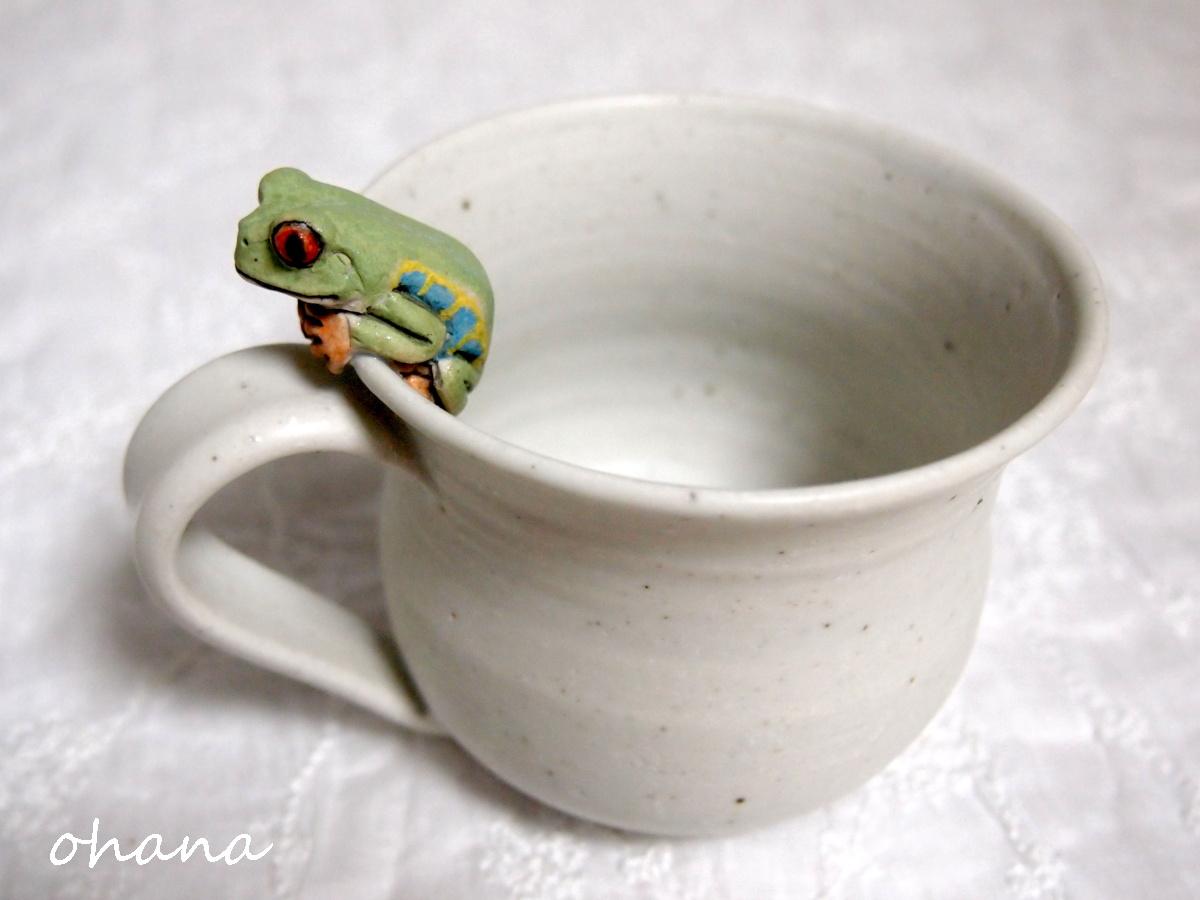 アカメアマガエルのマグカップ